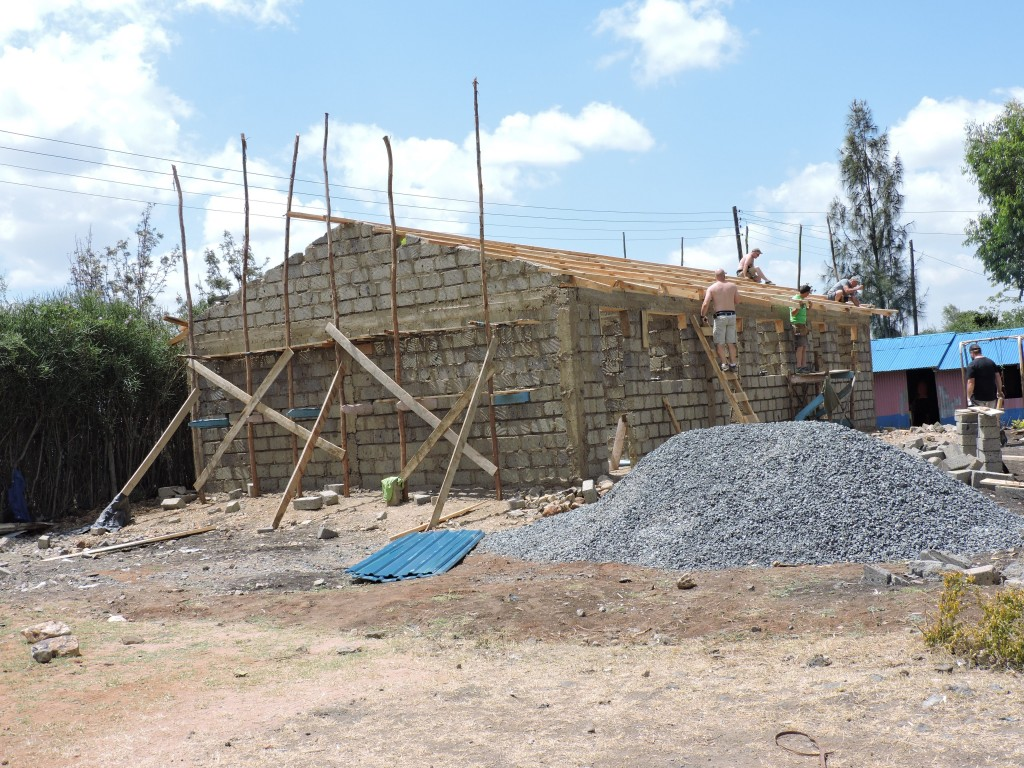 The new building under construction